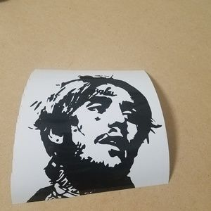 "5"" black lil peep decal."